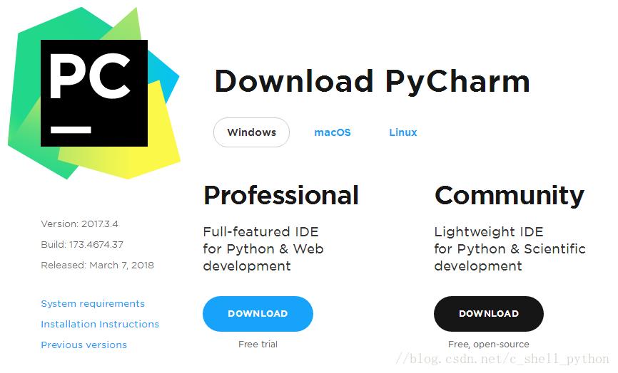 Python 集成开发环境(IDE:Integrated Development Environment): PyCharm 最新版win平台安装及汉化